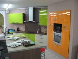 cuisine orange et gris décoration cuisine orange et vert decoration guide