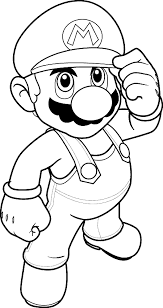 draw luigi super mario simple step step