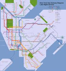 Brooklyn Metro Map by File Nyc Subway Late Night Map Svg Wikimedia Commons