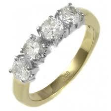 gold engagement rings uk 18ct yellow gold 1 02ct brilliant cut 4 diamond ring