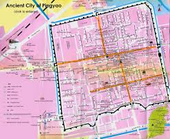 City Map Pingyao Map Ancient City Layout Attractions