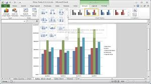 Excel Swimlane Template Excel 2007 To Excel 2016 Tutorials Chart Styles And Chart Layouts