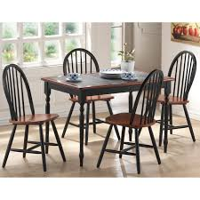 dinette kitchen dining room set table with 6 chairs in cappuccino