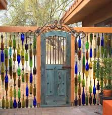 Gate For Backyard Fence Beautiful Garden Gates Home Inspiration Wine Bottle Wall