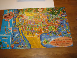 United States Map Puzzle by Vintage Puzzle Walt Disney Jaymar Mickey By Scrappantry On Zibbet