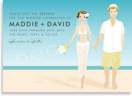 Example Of Baptismal Invitation Card Beach Party Beach Wedding Invitation Card Invitation Templates