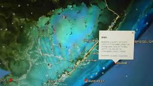 Map Florida Keys by Google Earth Fishing Florida Keys Reef Overview Youtube