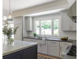 dark gray kitchen cabinets transitional kitchen by kimberley
