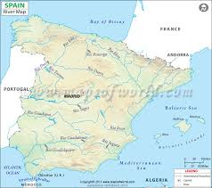 physical map of spain river map