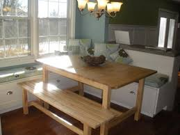 Tables With Bench Seating Easy Kitchen Table Bench Seating For Your Interior Home
