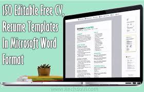 resume template editable 150 editable free cv resume templates in microsoft word format