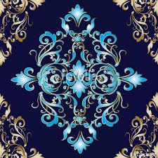 damask baroque floral vector seamless pattern background wallpaper