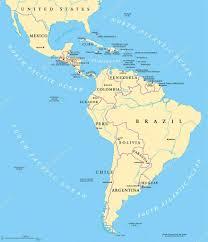 America Latina Map by Mappa Politica Dell U0027america Latina U2014 Vettoriali Stock Furian