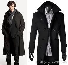 Trench Coat Halloween Costume Detective Sherlock Holmes Cape Coat Overcoat Cosplay Costume