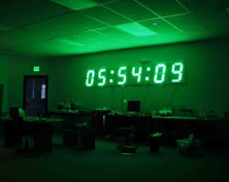 Ivation Clock by Mesmerizing Giant Digital Wall Clock 100 Large Digital Wall Clock