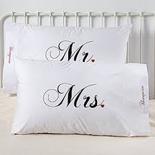 personalized wedding gifts personalized pillowcase set mr and mrs wedding collection