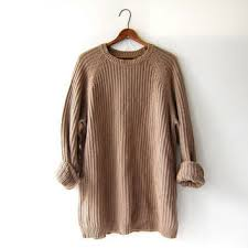 boyfriend sweaters vintage light brown oatmeal sweater from birdies vintage