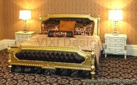 Divan Bed Set Gold Leaf Bedroom Furniture Luxury Gold Style Divan Bed Set