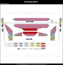new london theatre seat map and prices for of rock u2013 the