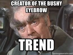 Bushy Eyebrows Meme - creator of the bushy eyebrow trend bushy eyebrows meme generator