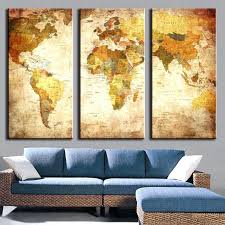wall ideas usa map wall decor 3 pieces modern wall painting on