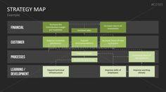 strategy map powerpoint template strategy pinterest