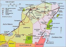 map of mexico yucatan region map of yucatán peninsula including ceche mérida cancún