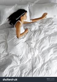 lonely woman bed missing her partner stock photo 116820898