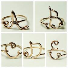 custom initial rings initial ring custom initial ring letter rings wire letters