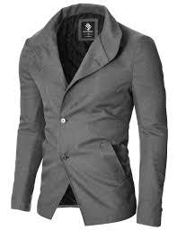 casual blazer mens casual slim fit blazer jacket gray mod14520b moderno