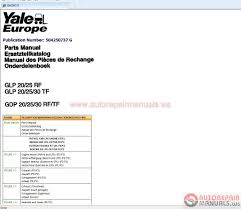 auto repair manuals yale class 5 forklift full service manual