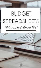 Best Budget Spreadsheet by Budget Spreadsheet Natalie Bacon