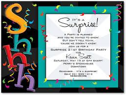 surprise birthday party invitations for him cosas que comprar