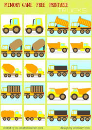 traffic memory game free printables preschool baby