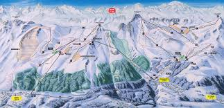 Alps Mountains Map Zinal Switzerland Tourism