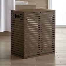 Crate And Barrel Bar Cabinet Dixon Bamboo Hamper With Liner Crate And Barrel