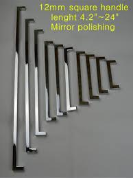 kitchen door cabinet aliexpress com buy length 396mm 12 12mm square bar door handle