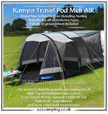 Free Standing Motorhome Awning 2015 Kampa Travel Pod Midi Air Inflatable Drive Away High Top Awning