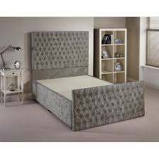 Silent Night King Size Bed Base Provincial Fabric Upholstered Bed Frame Next Day Select Day