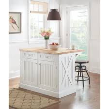 peyton picket fence kitchen island with wine storage wood
