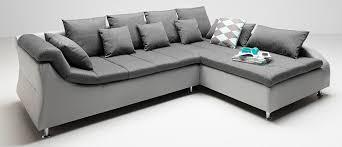 Esszimmer G Stig Bestellen Ecksofa Grau Stoff Kunstleder Couch Eckgarnitur Polsterecke