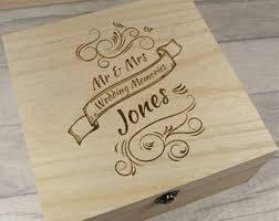 engraved memory box memory box etsy