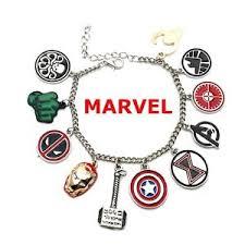 bracelet charms ebay images Marvel comics superheroes 11 themed logo charms silvertone metal jpg