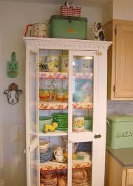 vintage glass front kitchen cabinets c dianne zweig kitsch n stuff storing and showcasing