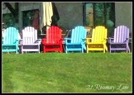 How To Paint An Adirondack Chair 21 Rosemary Lane My Freshly Painted Adirondack Chairs