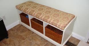 Indoor Storage Ideas Bench Comfortable Indoor Bench Tufted Cushion Ideas Amazing