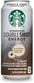 starbucks doubleshot vanilla light starbucks doubleshot energy