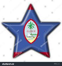 Guam Flag Guam Button Flag Star Shape Stock Illustration 15155761 Shutterstock