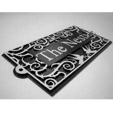 design home name plates art nouveau house name plate by black fox metalcraft name board