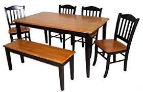 Amazoncom Boraam  Shaker Piece Dining Room Set Black - Shaker dining room chairs